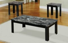 Black Coffee Table Set Round Free