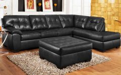 Black Leather Sectional Sleeper Sofas