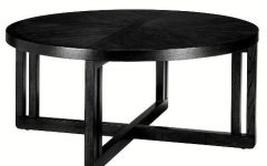 Black Round Coffee Tables with Storage