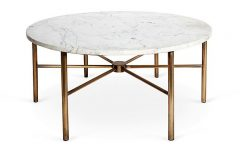 Faux Marble Round Coffee Table