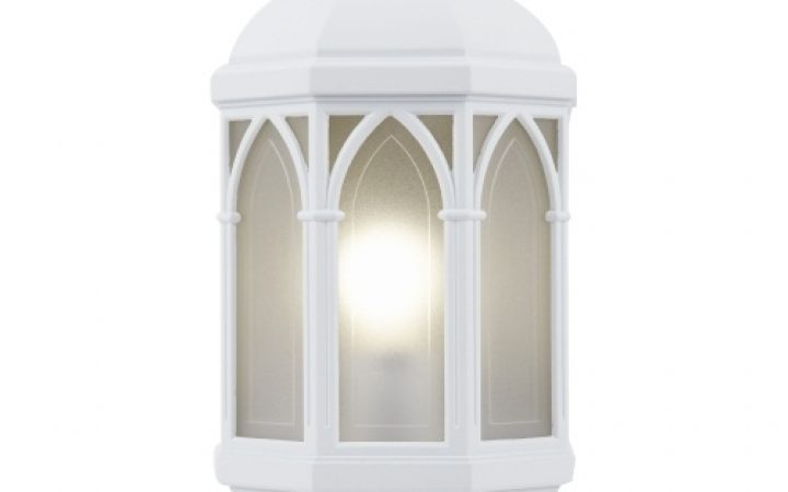 Outdoor Wall Lights in White