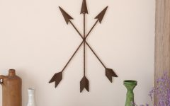 Brown Metal Tribal Arrow Wall Decor