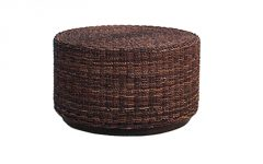 Wicker Round Coffee Table Glass Top