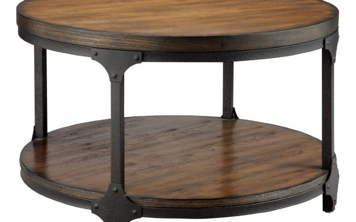 Round Rustic Coffee Tables DIY