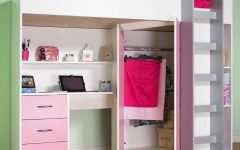 High Sleeper with Desk and Wardrobes