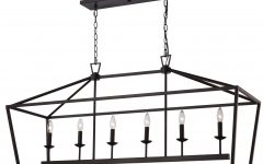 Carmen 6-light Kitchen Island Linear Pendants