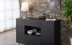 Carrera Contemporary Black Dining Buffets
