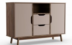 Mid-century Brown and Grey Sideboards