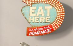 Casual Country Eat Here Retro Wall Decor