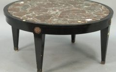Marble Top Round Coffee Table Sets