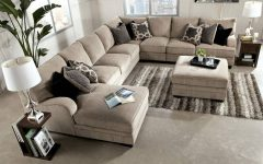 Chenille Sectional Sofas With Chaise