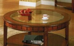 Modern Cherry Round Coffee Table Sets