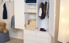 Double Wardrobe With Drawers and Shelves