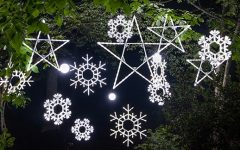 Outdoor Hanging Snowflake Lights