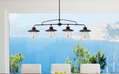 Cinchring 4-light Kitchen Island Linear Pendants