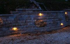 Outdoor Block Wall Lighting