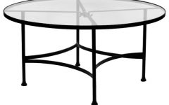 Round Glass Top Coffee Table Wrought Iron