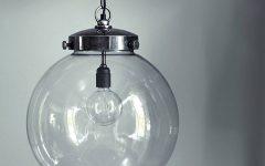 Large Glass Ball Pendant Lights