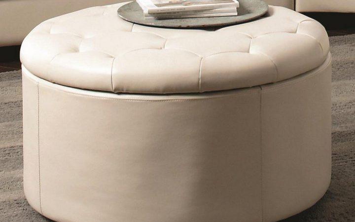 Round Ottomans Coffee Tables Upholstered