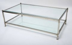 Glass Chrome Coffee Tables