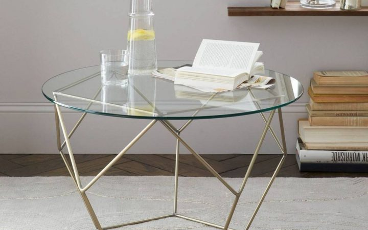 Antique Brass Glass Coffee Tables