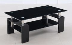 Unique Black Glass Coffee Table