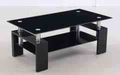 Unique Black Glass Coffee Table