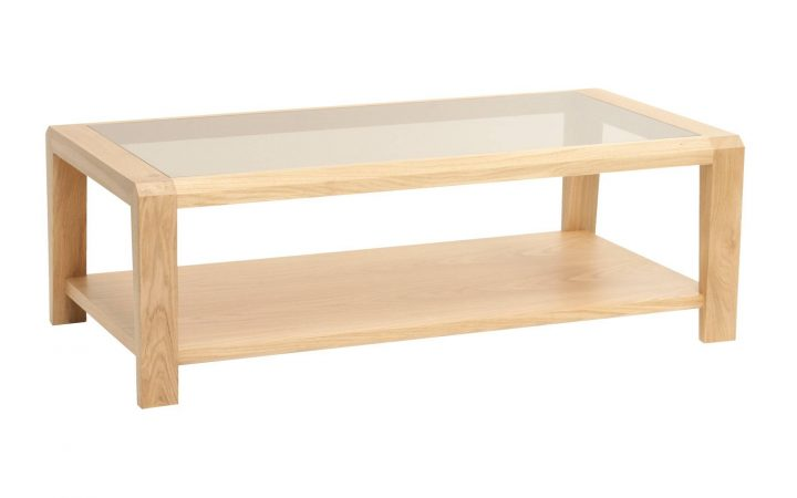 Oak and Glass Coffee Tables