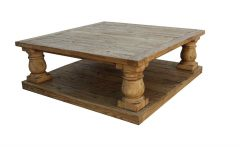 Large Square Wood Coffee Tables