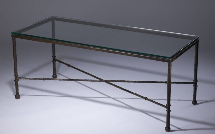 Bronze Coffee Table Glass Top