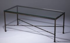 Bronze and Glass Coffee Tables