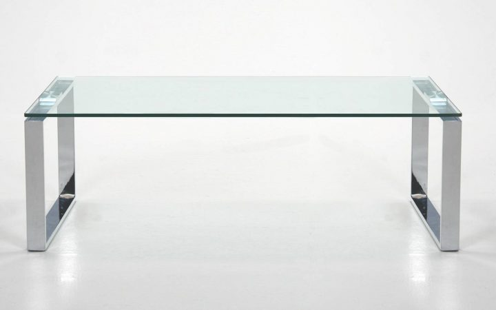 Rectangle Glass Chrome Coffee Tables