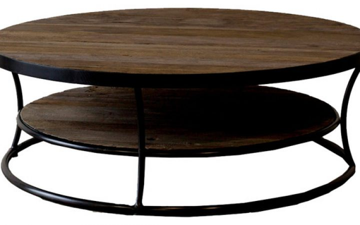 Round Wood Coffee Tables with Storage