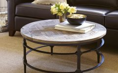 Coffee Table Round Wood and Glass