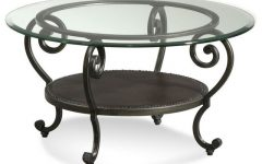 Small Round Coffee Table with Glass Top