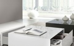 White Coffee Tables with Storage
