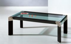 Coffee Table Wood and Glass Furniture