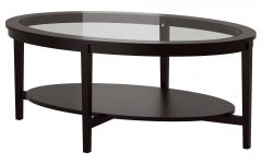 Oval Black Glass Coffee Tables