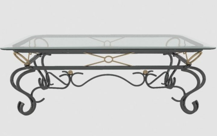 Coffee Tables Metal and Glass Modern
