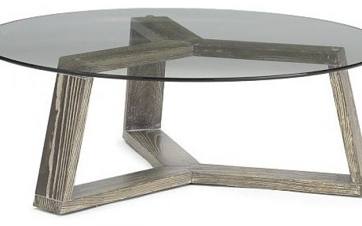 Coffee Tables Round Glass and Metal