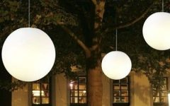 Round Outdoor Hanging Lights