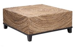 Rattan Coffee Table Ottoman