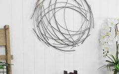 Contemporary Abstract Round Wall Decor