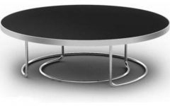 Modern Round Black Glass Coffee Table