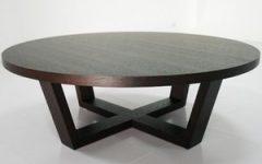 Round Espresso Coffee Tables