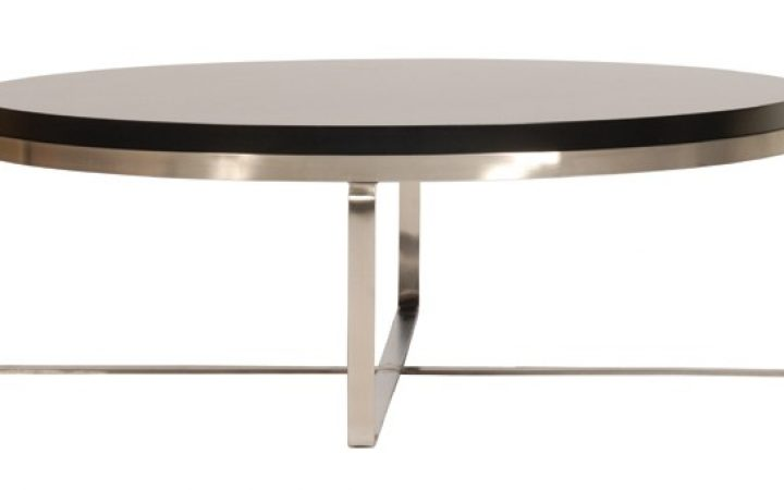 Round Modern Coffee Table with Storage