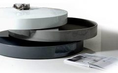 Modern Round Storage Coffee Table