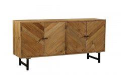 Mid Burnt Oak 71 Inch Sideboards