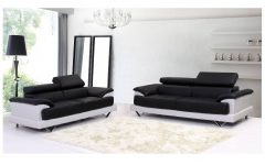 Black and White Leather Sofas