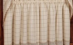 Cotton Classic Toast Window Pane Pattern and Crotchet Trim Tiers